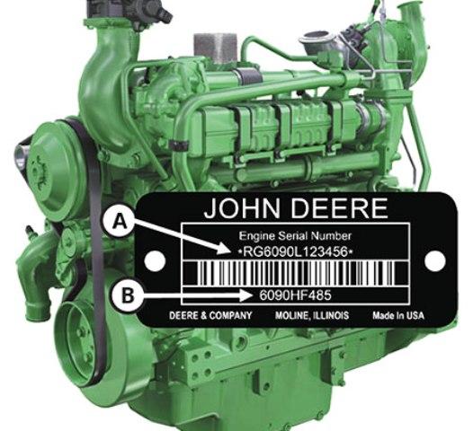 Серийный номер двигателя Джон Дир